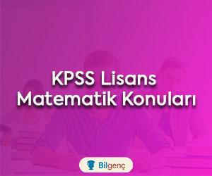 KPSS Lisans Matematik Konuları