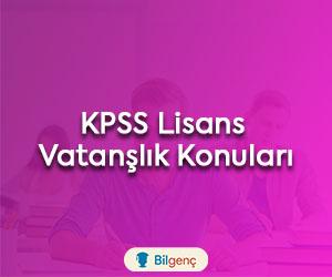 KPSS Lisans Vatandaşlık Konuları