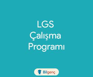 LGS Ders Çalışma Programı