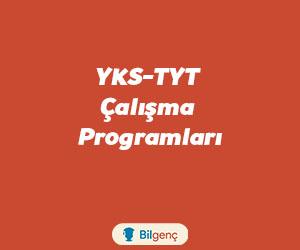 YKS-AYT-TYT Çalışma Programları