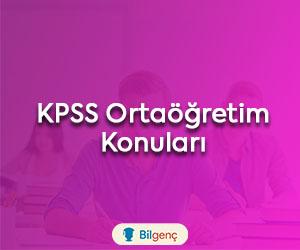 KPSS Ortaöğretim Konuları ve Soru Dağılımı