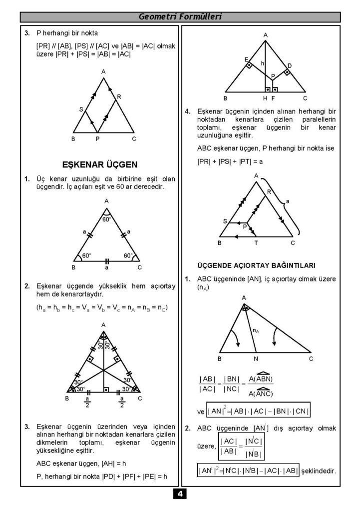 Geometri Formülleri-3