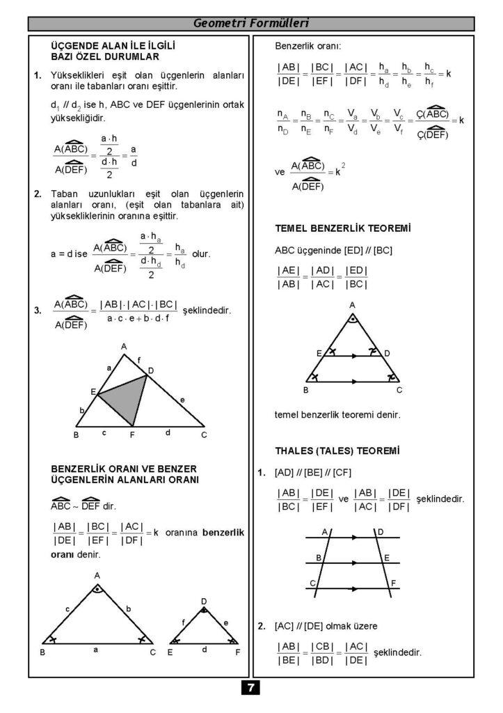 Geometri Formülleri-6