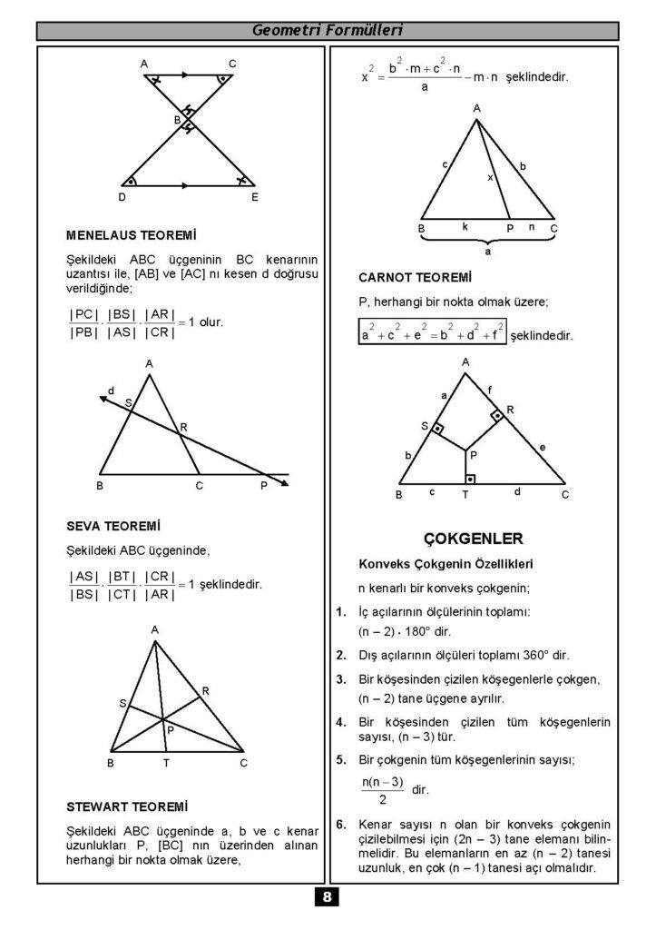 Geometri Formülleri-7