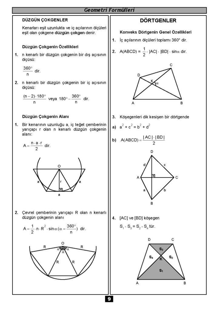 Geometri Formülleri-8