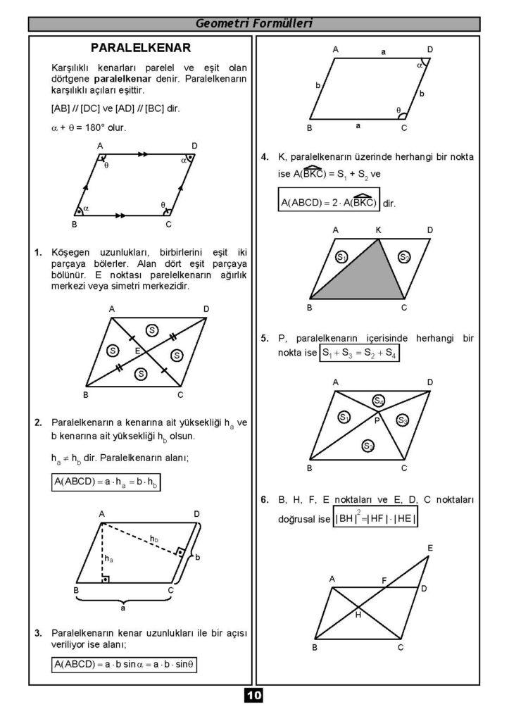 Geometri Formülleri-9