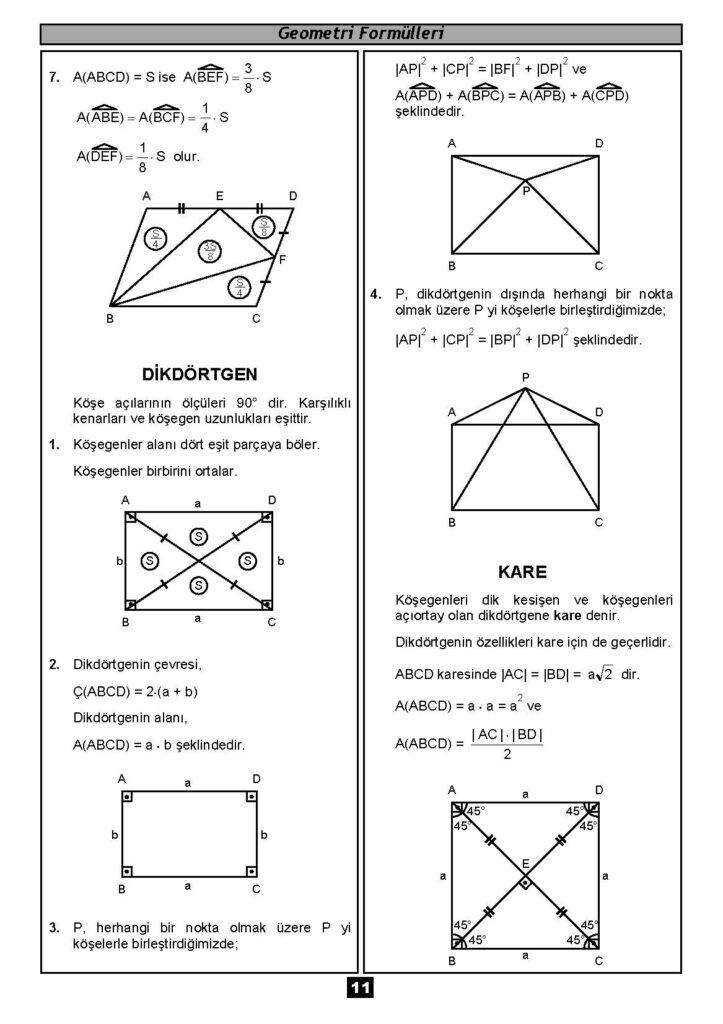 Geometri Formülleri-10