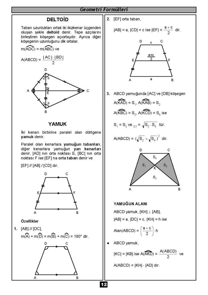 Geometri Formülleri-11