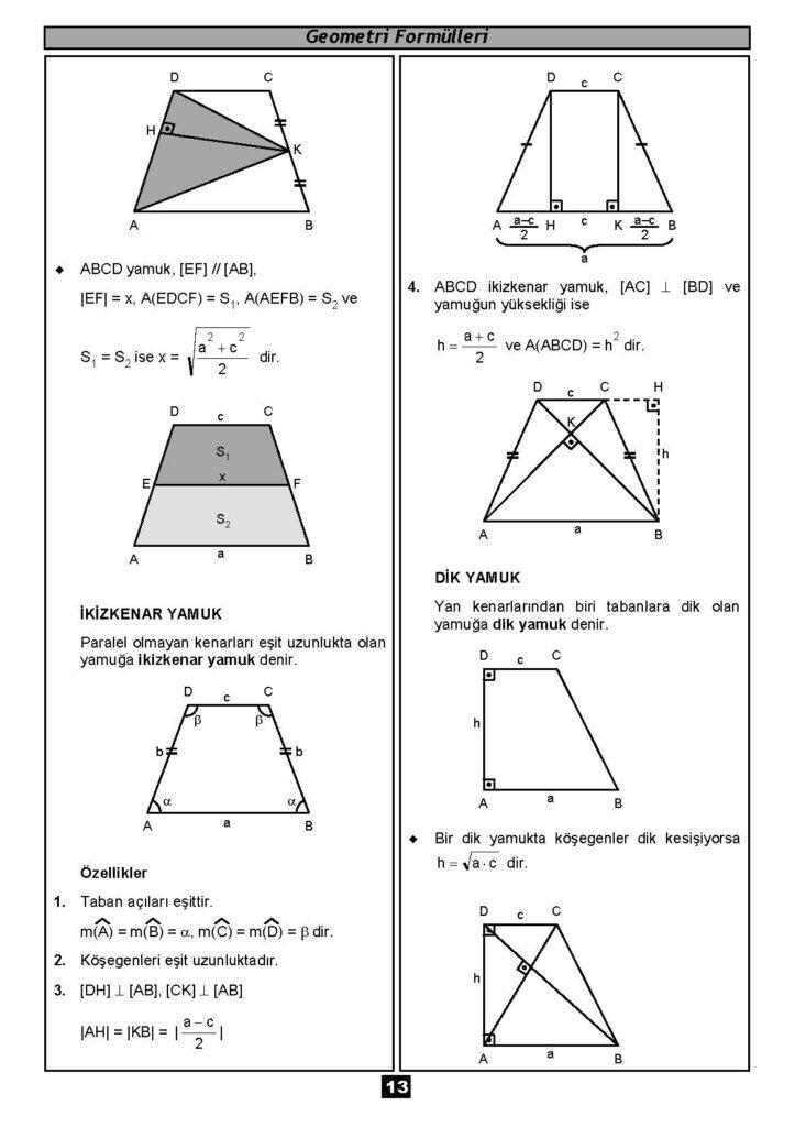 Geometri Formülleri-12