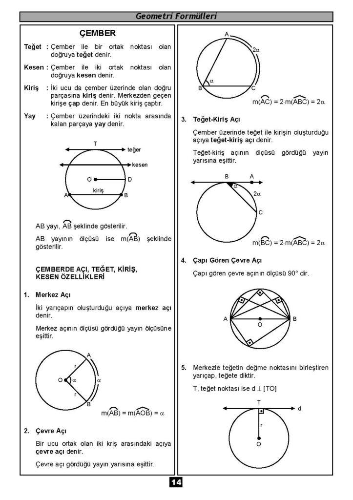 Geometri Formülleri-13