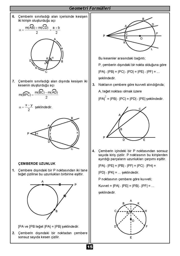 Geometri Formülleri-14