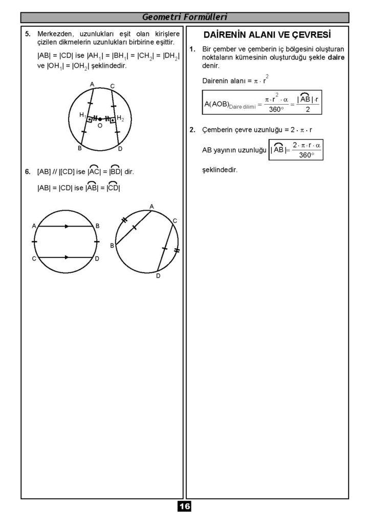 Geometri Formülleri-15